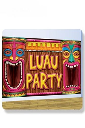 Décor Mural Luau Party