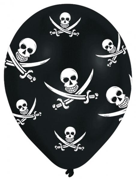 Ballons thème pirate par 6