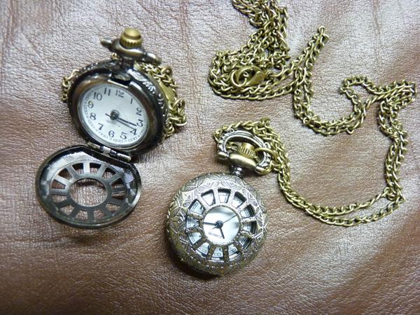 Collier montre steampunk