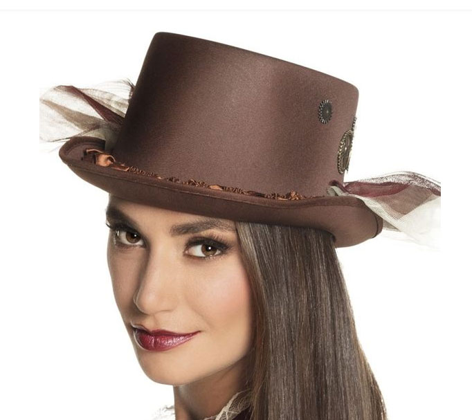 Chapeau Steampunk marron