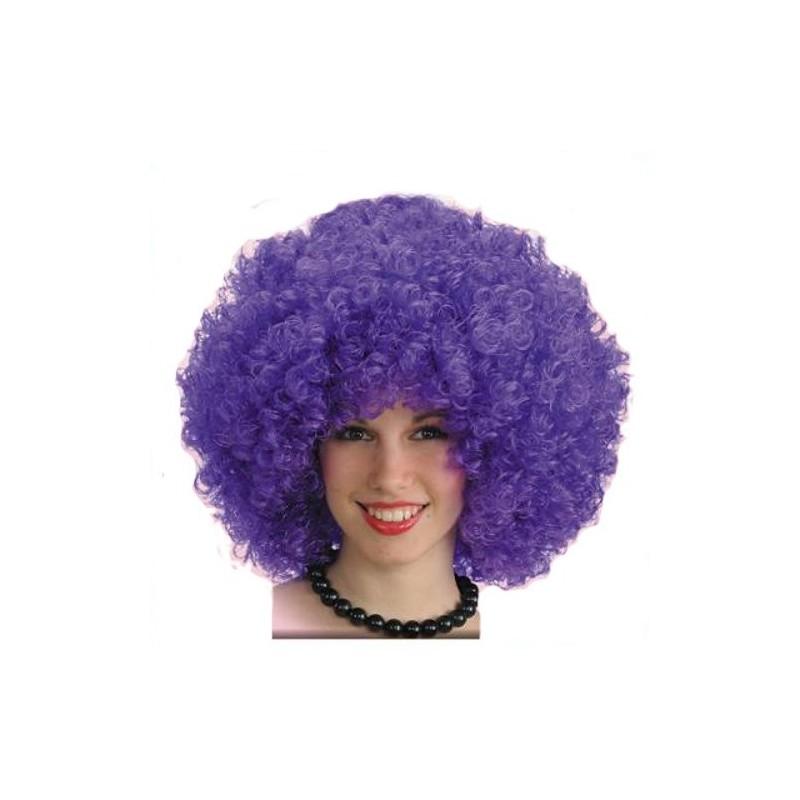 Perruque Disco Bouclée Violette