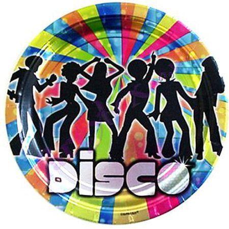 8 Assiettes Thème Disco Dancers