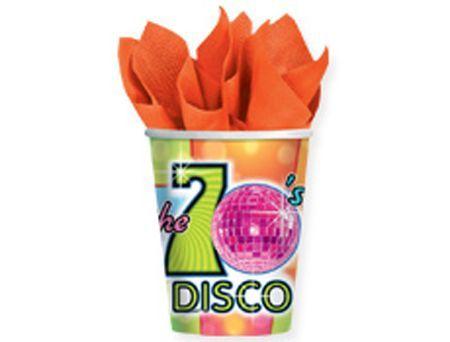 8 Verres Thème Disco Boule à Facettes