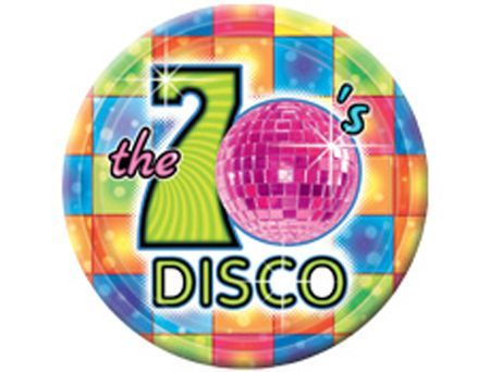 8 Assiettes Thème Disco Boules à Facettes 27Cm