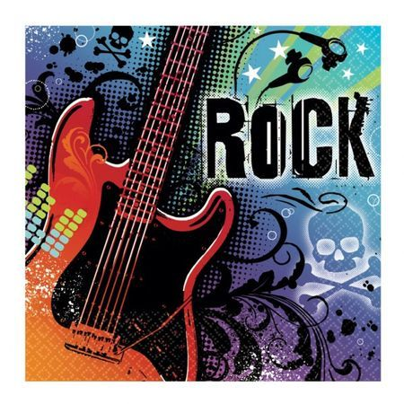 36 Serviettes Rock