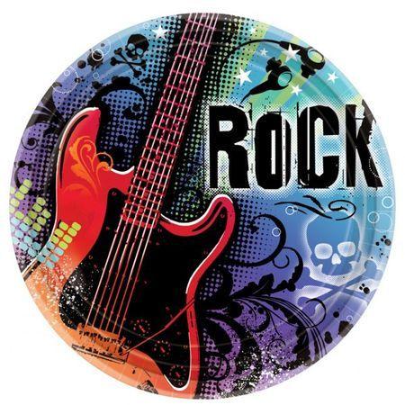 18 Assiettes Rock 27 Cm