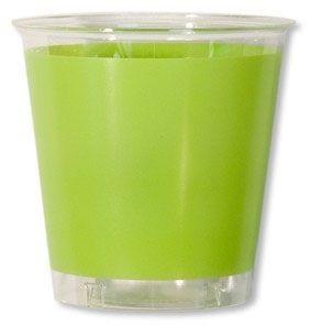 10 Verres En Plastique Vert Anis
