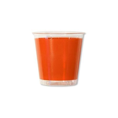 10 Verres En Plastique Orange