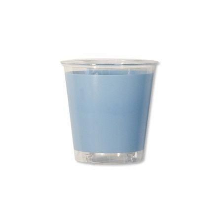 10 Verres En Plastique Bleu Ciel