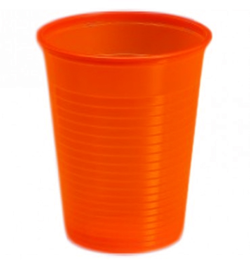 24 Verres jetables en plastique orange
