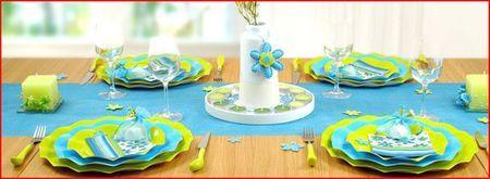 10 Assiettes Jetables 27Cm Turquoises