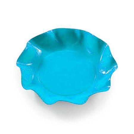 10 Coupelles Jetables 18.5Cm Turquoises