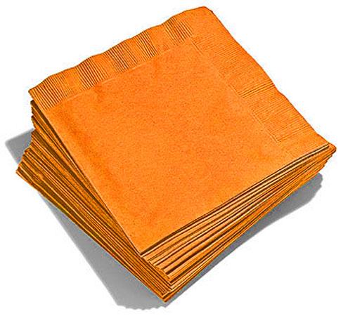 20 Serviettes Oranges