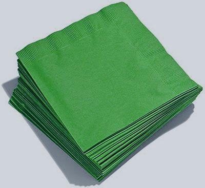 20 Serviettes Jetables En Papier Verts