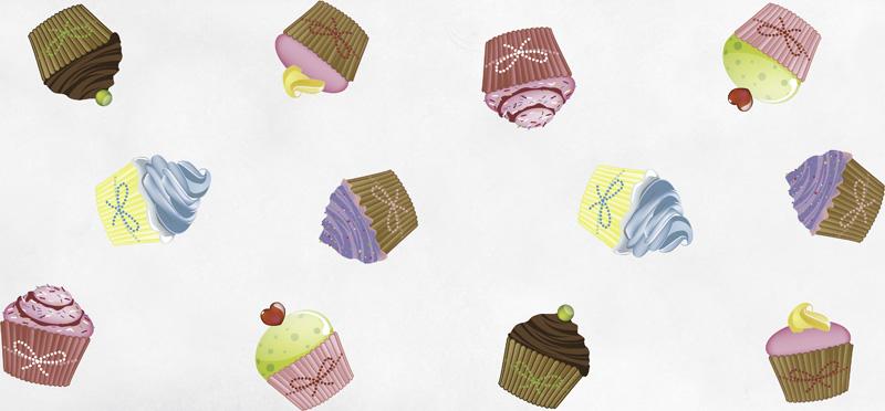 Chemin de table cupcakes