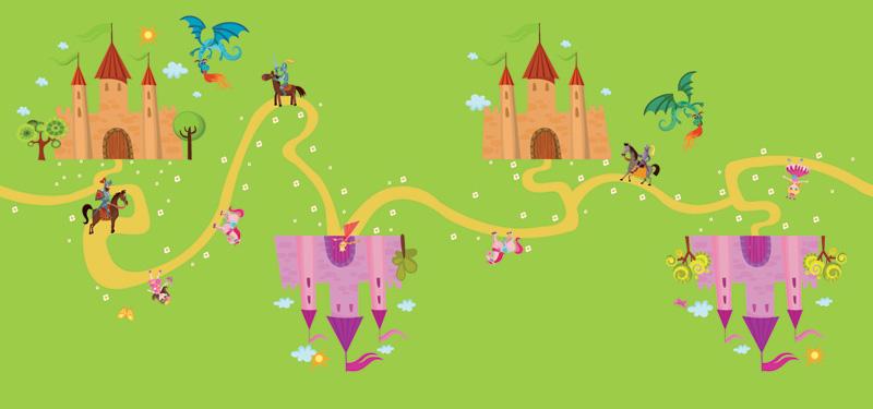 Chemin de table princesses et chateau