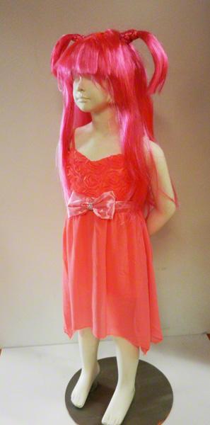 Robe fluo rose enfant