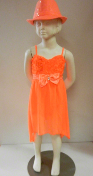 Robe fluo orange enfant