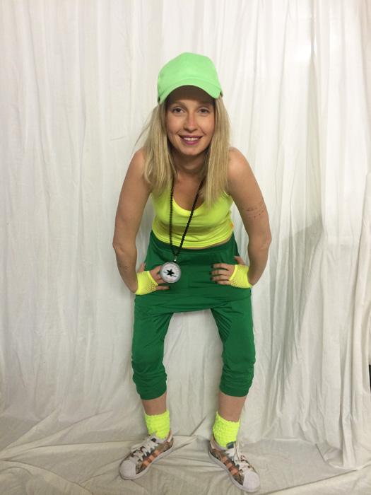 Pantalon sarouel hip hop enfant vert brésil