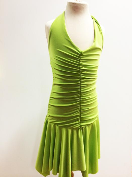 Robe de danse enfant vert anis sur commande