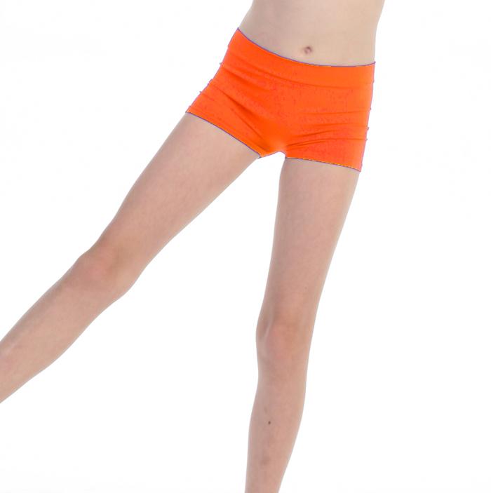 Short de danse enfant orange