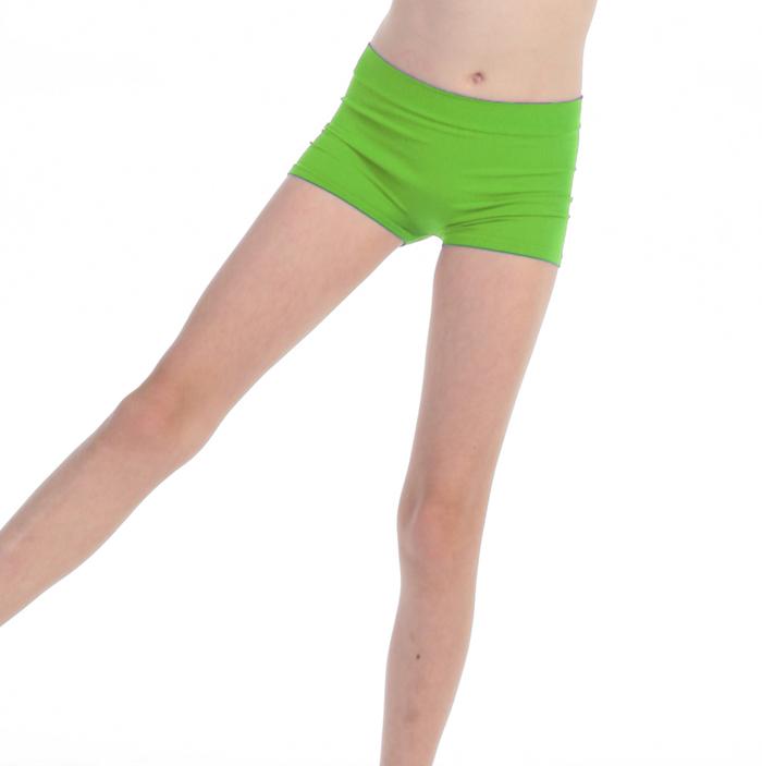 Short de danse enfant vert anis