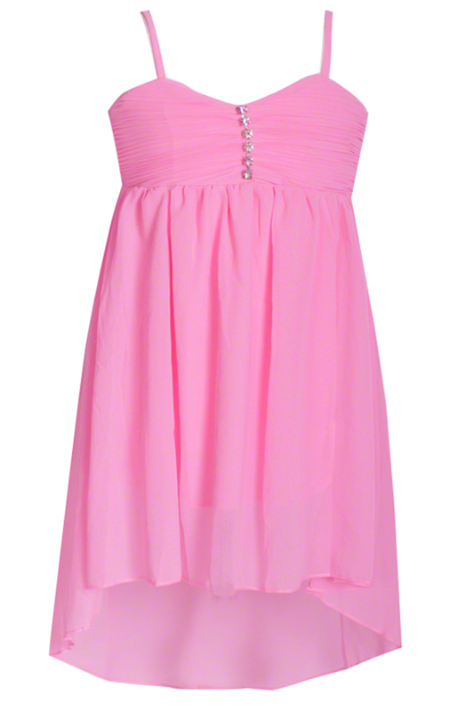 Robe de danse enfant en mousseline rose