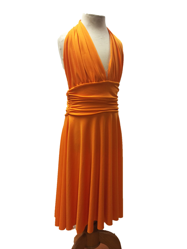 Robe de danse Marilyn enfant orange