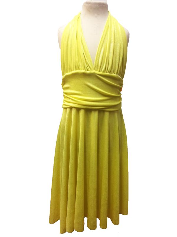 Robe de danse Marilyn enfant lurex jaune