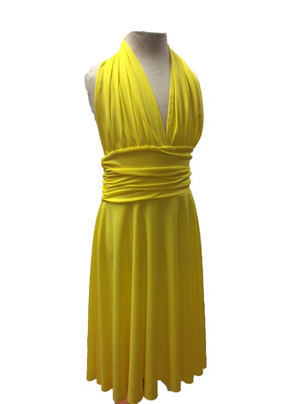 Robe de danse Marilyn enfant jaune