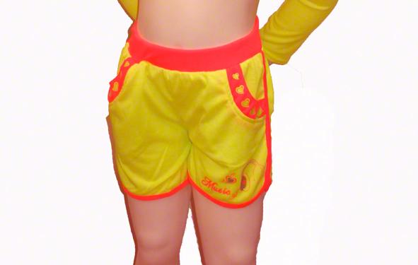 Short enfant fluo jaune