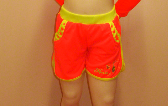 Short enfant fluo orange