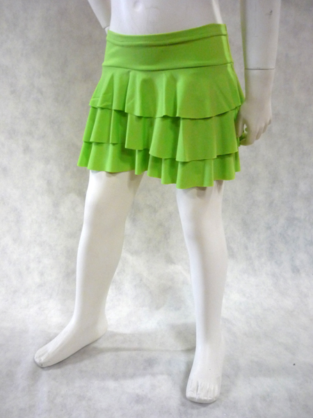 Jupe de danse enfant à volants vert anis