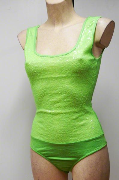 Body paillettes vert fluo