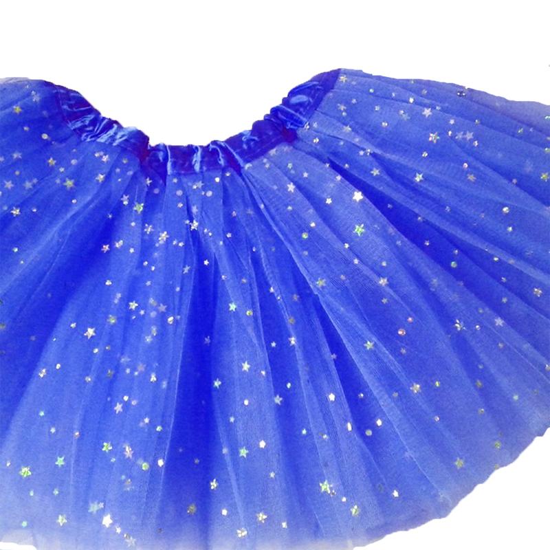 Jupe tutu bleu roy pailleté étoiles