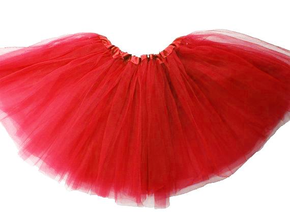 Jupe tutu tulle rouge moyen 30 cm