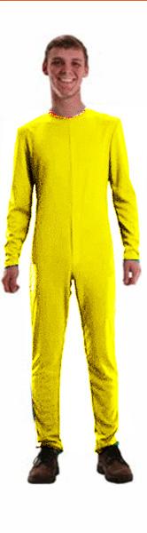 Combinaison unisexe jaune