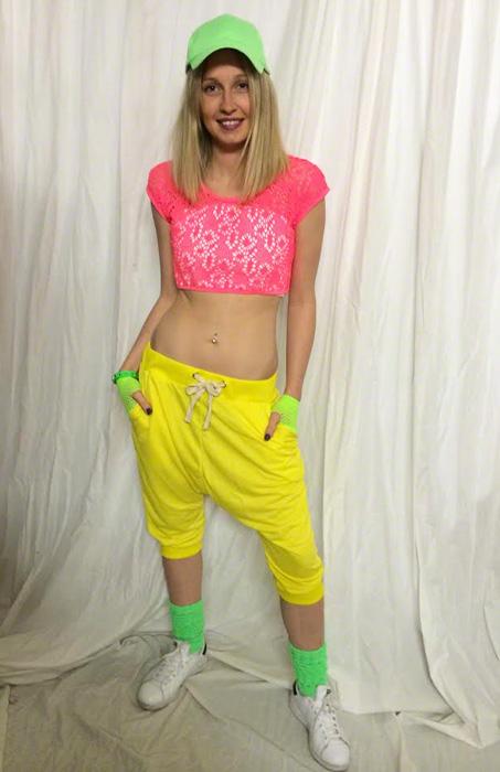 Sarouel court hip hop jaune