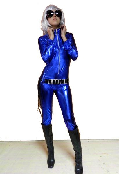 Combinaison métallisée bleue roi