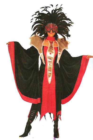 Déguisement cabaret noir et rouge