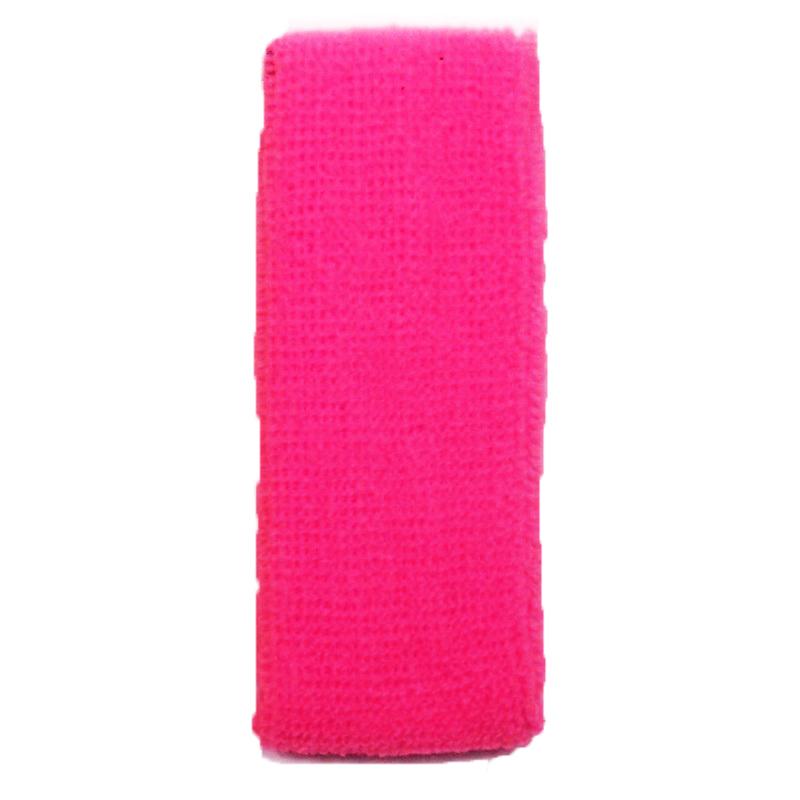 Bandeau de tête éponge rose fluo 80\'