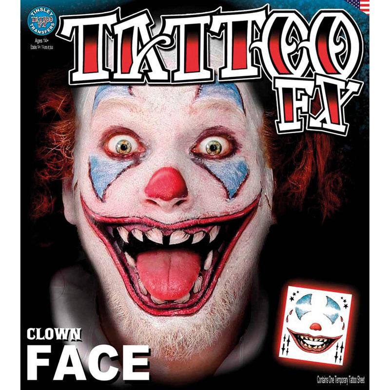 Tatouage facial clown