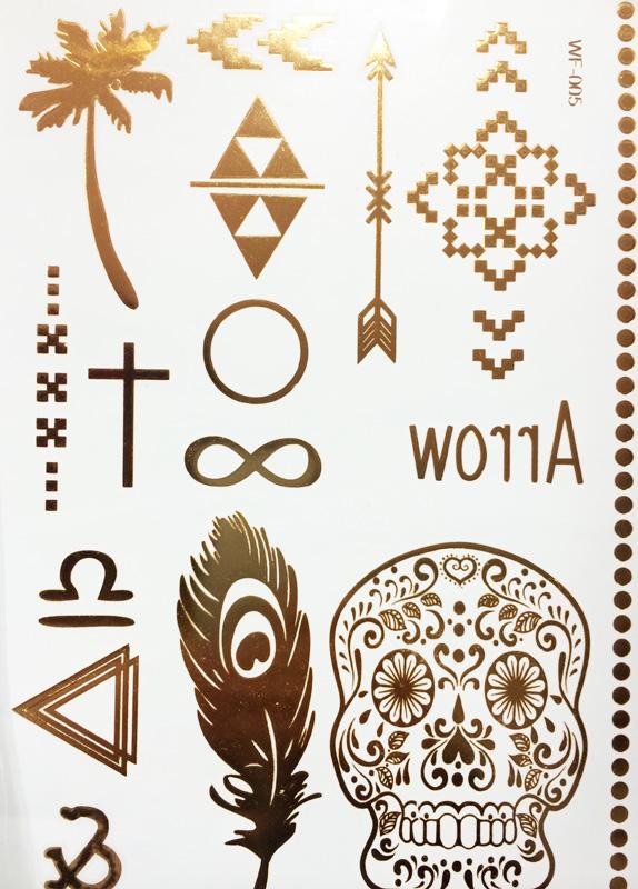 Tatouages metallisés