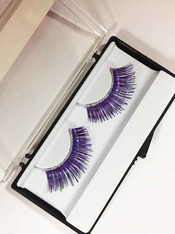 Faux Cils  Disco violets Avec paillette