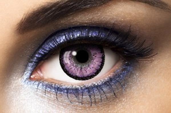 Lentilles de contact big eyes violet