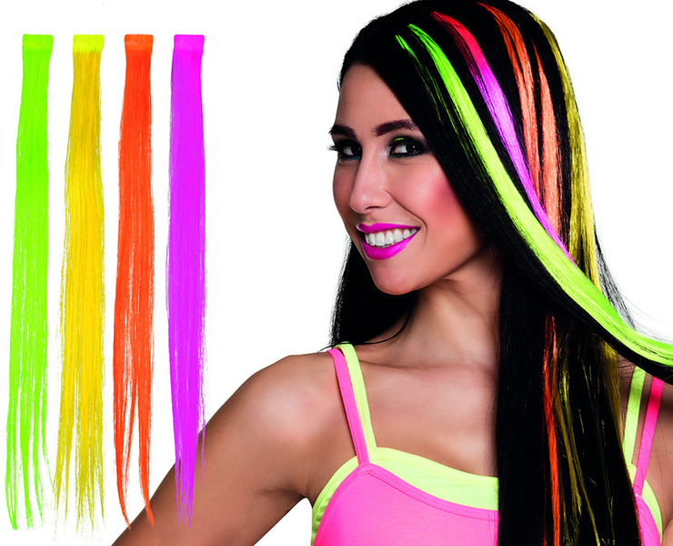 Mèches cheveux fluo