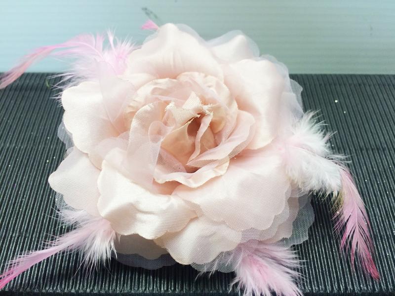 Chouchou rose poudrée