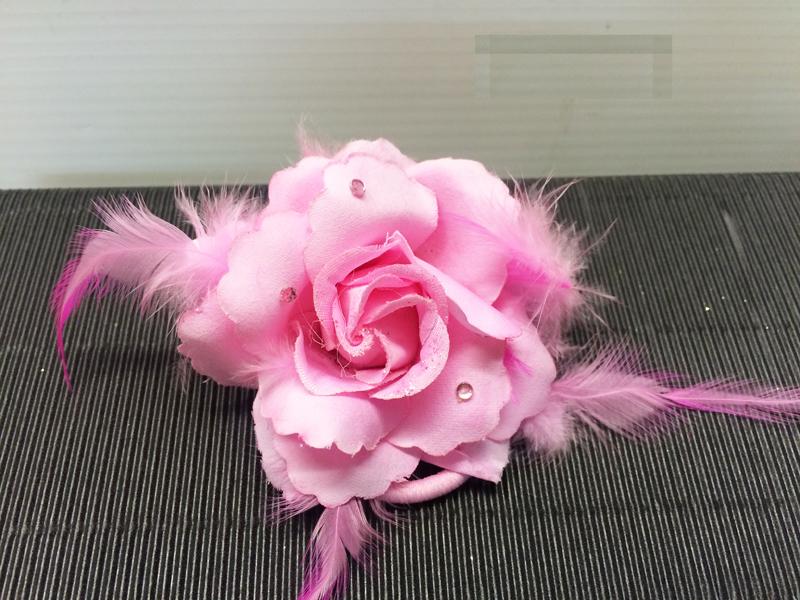 Chouchou rose rose