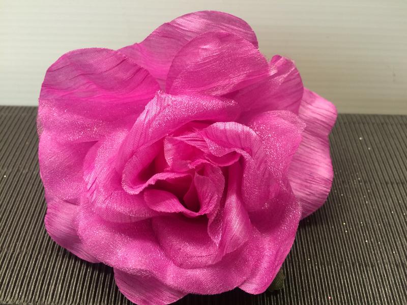 Chouchou rose fuchsia