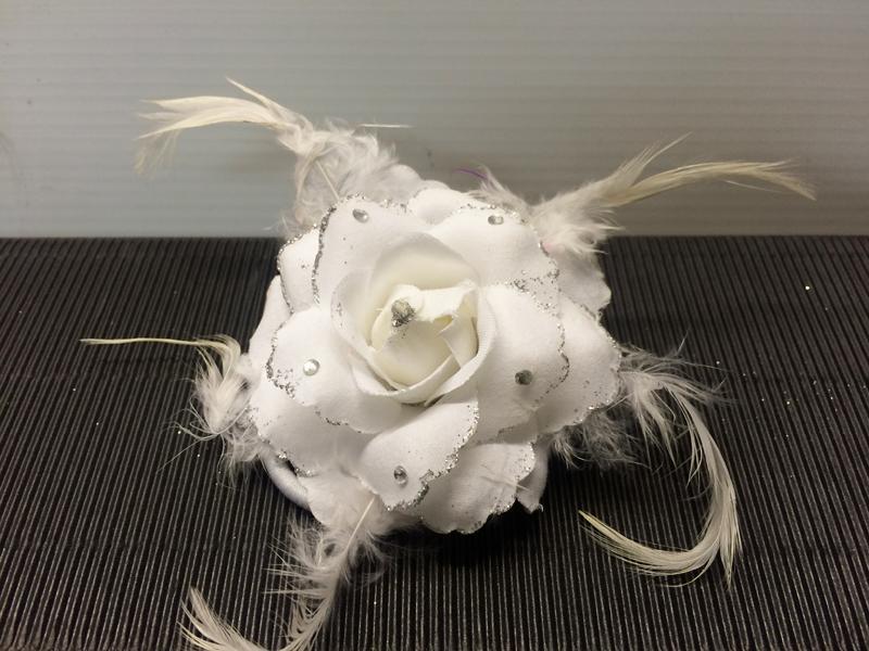 Chouchou rose blanche